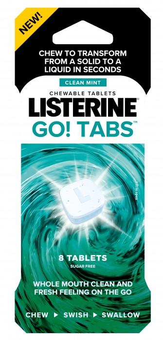 Listerine Go! Tabs 8ct